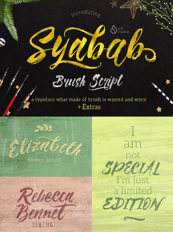13 Syabab Brush Script Free Font