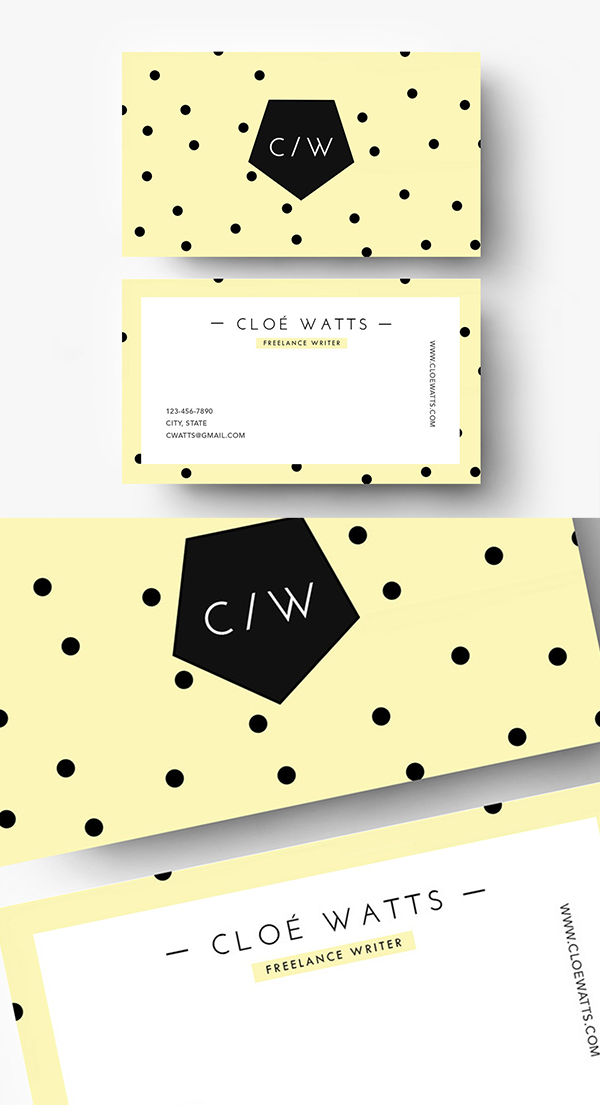 14 Colorful business card template