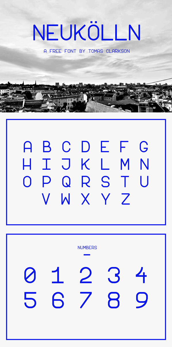 14 Neukölln Free Font