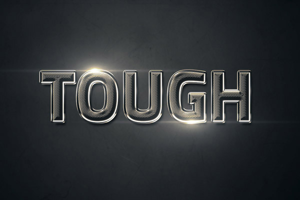 15 Create a Shiny Textured Chrome Text Effect in Photoshop