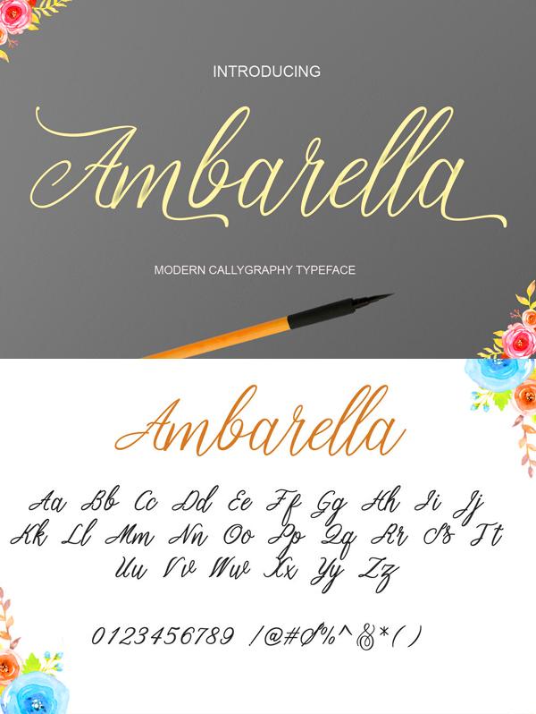 17 Ambarella Free Font