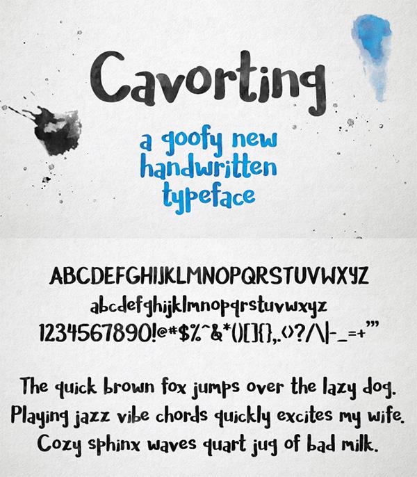 17 Cavorting Free Font