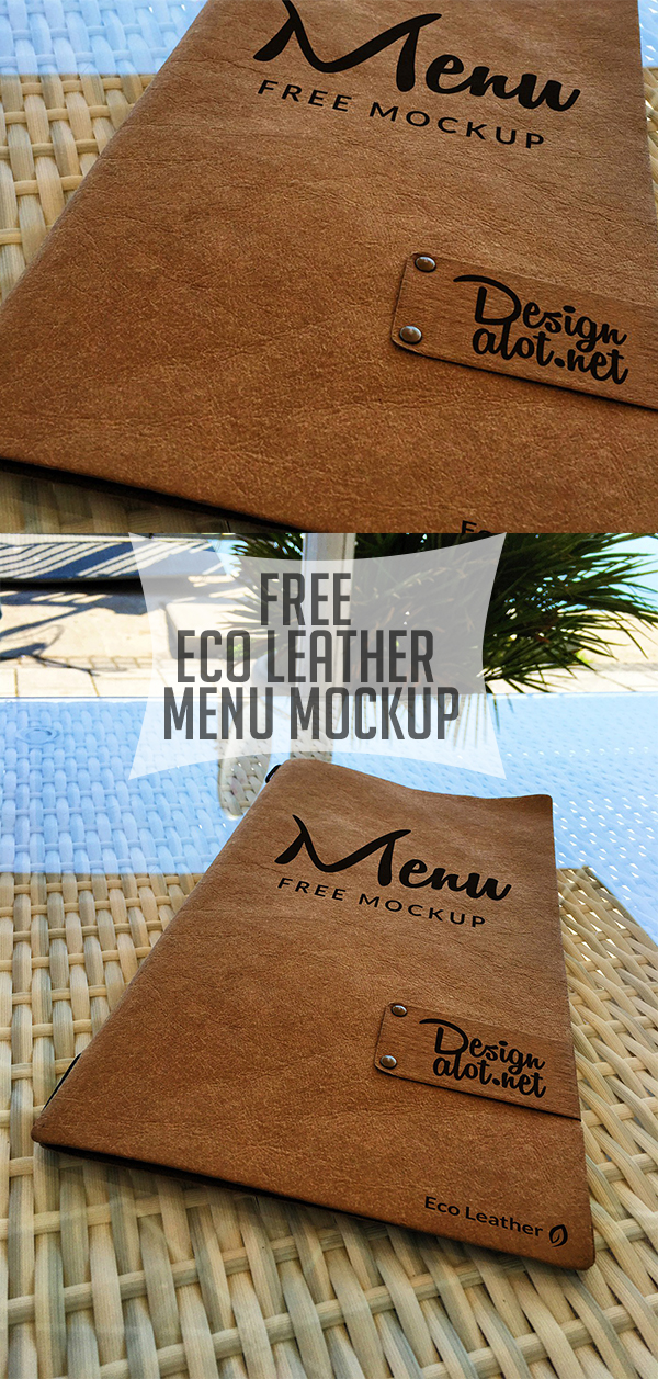 17 Free Eco Leather Menu Mockup