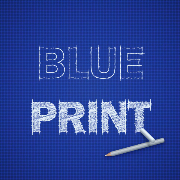 17 How to Create a Blueprint Text Effect in Adobe Illustrator
