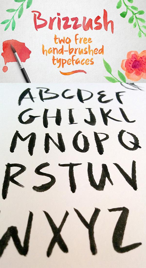 19 Brizzush Free Font
