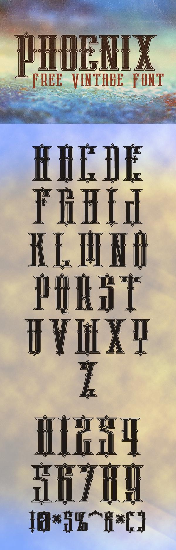 19 Phoenix Free Font