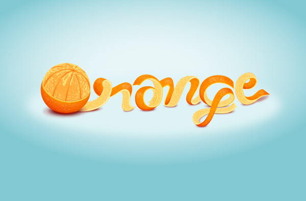 20 Learn to create an Orange Text Effect