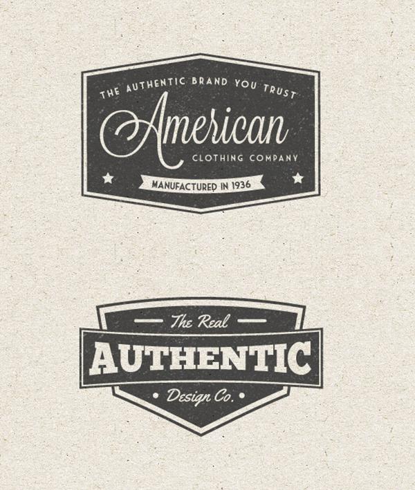 21 Free Vintage Label Vector Pack