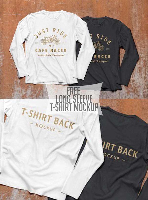 22 Free Long Sleeve T-Shirt Mockup