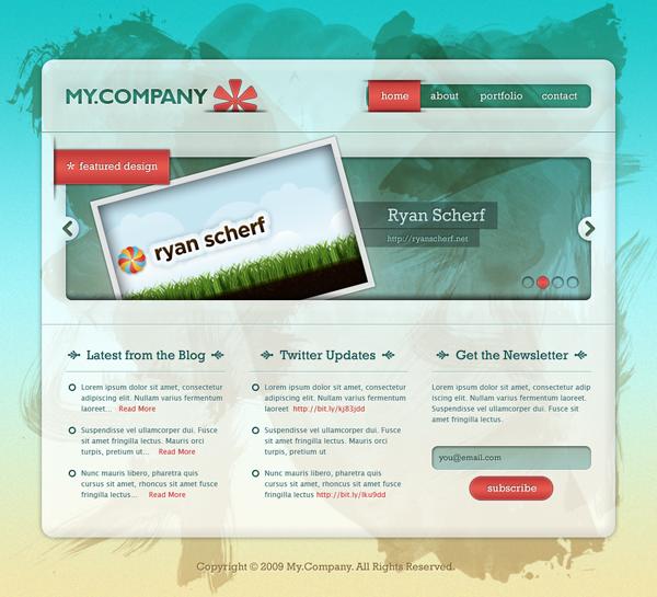 23 Create a Grungy, Translucent Web Portfolio Design