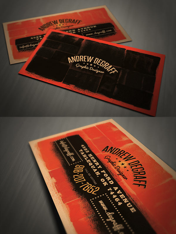 23 Grunge Business Card Template
