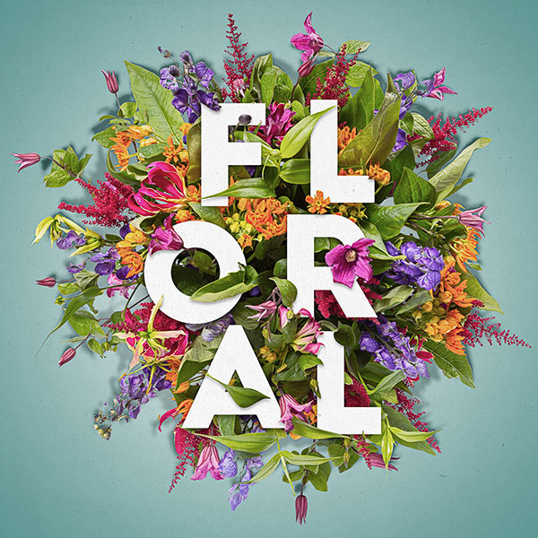 26 How to Create a Layered Floral Typography Text Effect in Adobe Photoshop