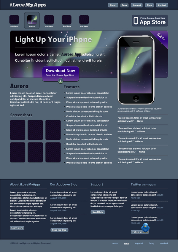 27 Create a Promotional iPhone App Site in Photoshop