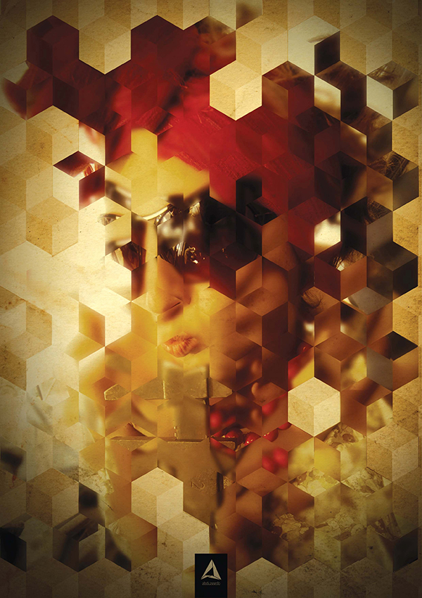 27. Turn a portrait photo into an intriguing, abstract mosaic of cubes