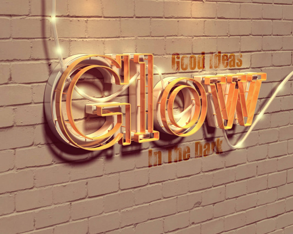 20 Create a Glowing 3D Text Effect With Filter Forge and Photoshop