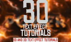 30 New Best 2D and 3D Text Effect Tutorials