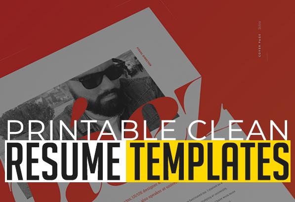 Clean CV / Resume Templates