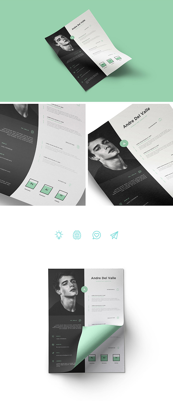 FREE Creative Resume / Personal Branding Template